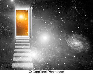 belépés, kijárat