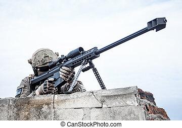 belétek. s., hadsereg, orvlövész