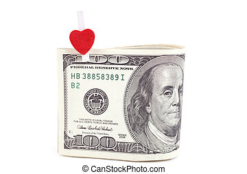belétek. s., szív, dollárok, jelkép