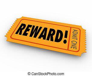 belöna, tombola lottsedel, fordra, pris, pris, motivering,...