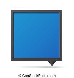 bel, blackboard., praatje, 3d