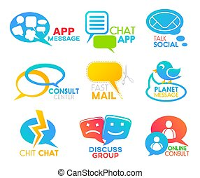 bel, iconen, app, media, toespraak, praatje, sociaal, praatje