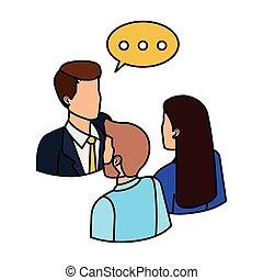 bel, klesten, toespraak, zakenlui