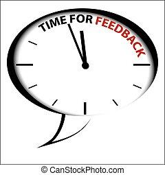 bel, klok, -, tijd, voor, terugkoppeling