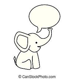 bel, schattig, weinig; niet zo(veel), toespraak, elefant