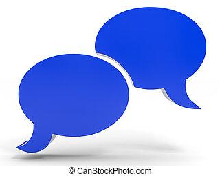 bel, talk., sociaal, media, concept.