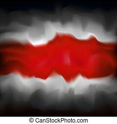 belarus., デザイン, 旗, グラフィック, 旗, テンプレート, グランジ, 煙が多い, 抗議, 背景, ...