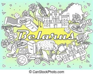 Belarus Coloring vector illustration