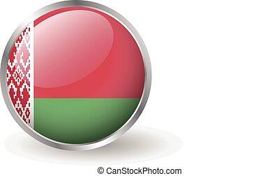 Belarus flag button vector