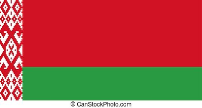 Belarus flag, flat layout, vector illustration