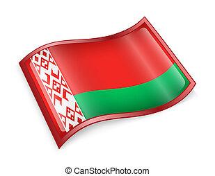 Belarus Flag icon. - Belarus Flag icon, isolated on white...