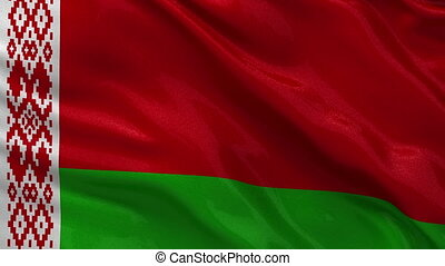 Belarus flag seamless loop