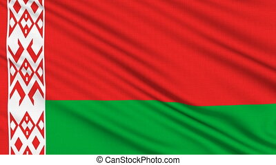 Belarus Flag, with real structure of a fabric