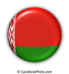 World Flag Button Series - Europe - Belarus (With Clipping Path)