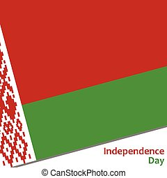 Belarus independence day with flag vector illustration for...