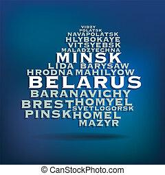Belarus map concept