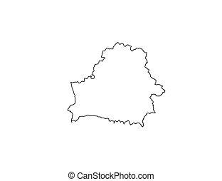Belarus map - Republic of Belarus. Europe. Vector illustration.