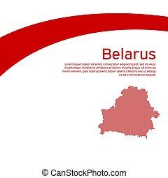 belarus., mapa, bandera bandera, plano, empresa / negocio, protesta, diseño, estilo, nuevo, resumen, vector, belarusian, mosaico, actions., folleto, creativo, patriótico, estado, nacional, plano de fondo, ondulación, poster.
