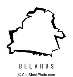 belarus, mapa, vector