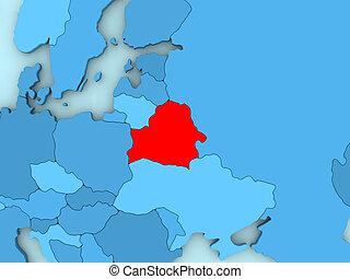 Belarus on 3D map