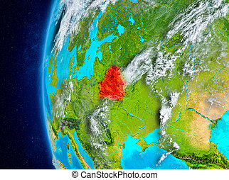 Belarus on Earth from space