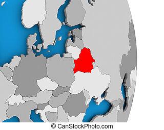 Belarus on globe