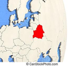 Belarus on model of political globe