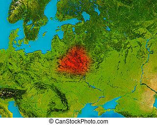 Map belarus brest 3dillustration Map of belarus as a stock