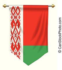 Belarus Pennant - Belarus flag or pennant isolated on white