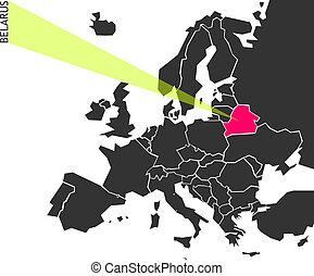 belarus, -, político, mapa, de, europa