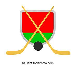 Belarus shield ice hockey isolated