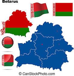 Belarus vector set.