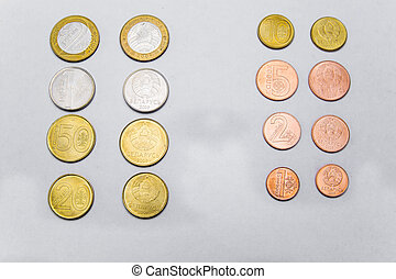 Belarusian coins are on the table