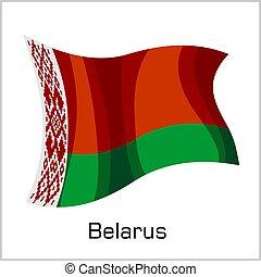 Belarusian flag, flag of Belarus vector illustration