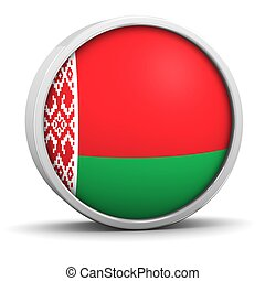 Belarusian flag with circular frame. Part of a series.