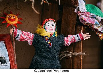 Belarusian Folk Doll. National Folk Dolls Are Popular Souvenirs