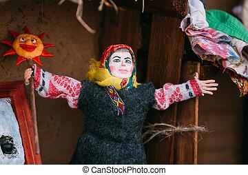 Belarusian Folk Doll. National Folk Dolls Are Popular Souvenirs From Belarus