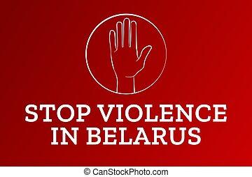 belarusian, illustration., language., protests, largo, cartel, bandera, tarjeta, plano de fondo, texto, vector, plantilla, inscription., concepto, belarus, eps10, inscripción, belarus., vivo