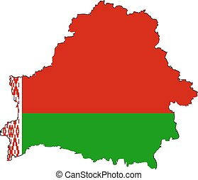 Belarusian map on a white background