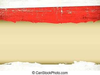 Belarusian flag with a frame for your message.