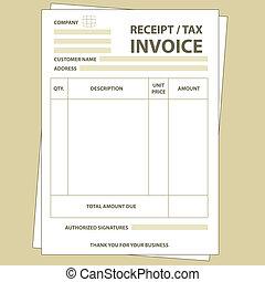 belasting, factuur