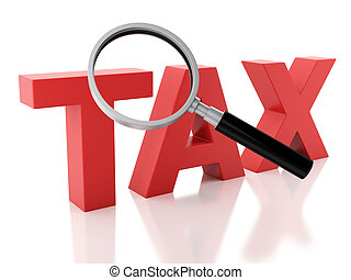 belasting, glas, achtergrond, witte , vergroten, 3d