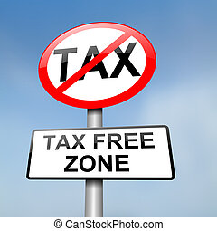 belasting, kosteloos, zone.