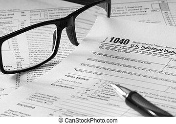 belasting, schrijfwerk