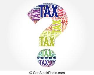 belasting, vraagteken