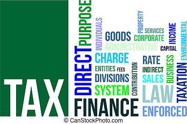 belasting, -, wolk, woord
