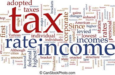belasting, woord, wolk, inkomen