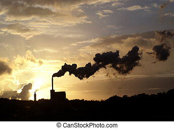 Belching smoke - Industrial chimneys