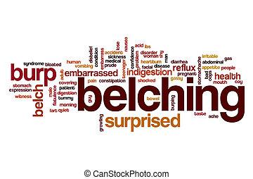 Belching word cloud concept - Belching word cloud
