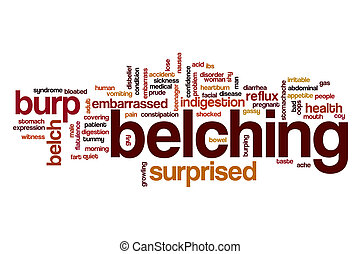 Belching word cloud concept - Belching word cloud